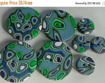 50% OFF - NEW SANTA Fe - 8 Polymer Clay Buttons