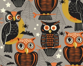 SALE - Blend Fabrics - Spooktacular Collection - Who's There in Gray