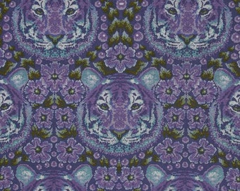 SALE - Tula Pink - Eden Collection - Crouching Tiger in Amethyst