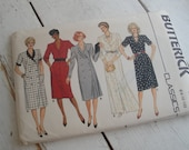 Butterick Vintage Sewing Pattern Straight Dress 1980s