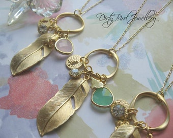 Feather Trinket Necklace