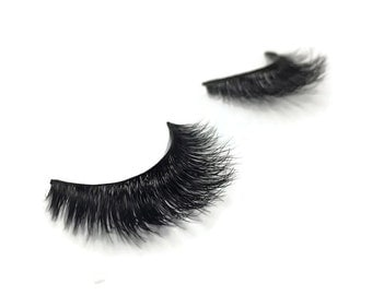The Lash Word - 100% Mink Fur 3D Handmade False Eyelash Extensions - 1 Set : 1058