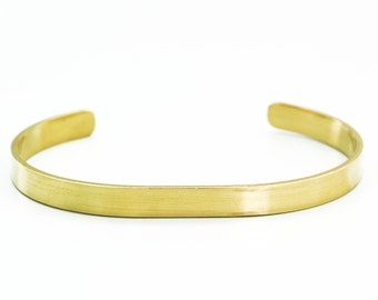 Solid Brass Bangle Blank - 6mm - 1/4 inch wide - 14 gauge - 100% Guarantee