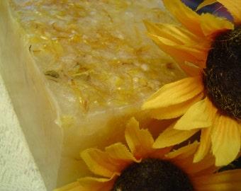 Tea Tree Calendula handmade glycerin soap, 1 LB SOAP LOAF, Floral Soap