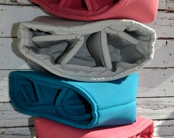 Water resistant in CORAL, Grey, TEAL blue,  Camera Bag DSLR, photograhers gear,  camera insert for purse or backpack by Darby Mack, in stock