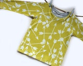 Mustard Yellow Arrow Organic cotton baby t-shirt, baby tee, baby clothes, toddler t-shirt