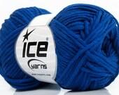 Blue Worsted Cotton Acrylic Blend Yarn - Ice Mojito #38042 50gr 98yd