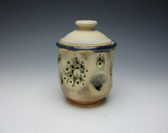Handmade ceramic sugar bowl / canister / jar