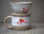 pour over coffee maker, coffee mug, ceramic dripper and mug set