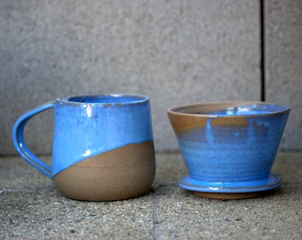 coffee mug dripper and mug set pour over