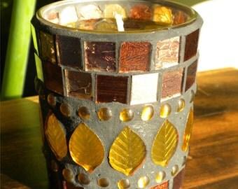 Rustic Mosaic Gel Candle