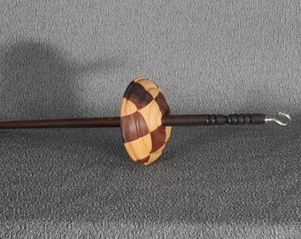 Maple and ebony top whorl spindle id # 6k20i01