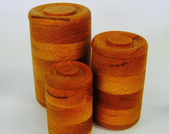 Wooden Layered Canister set