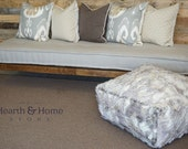 Rohini Hand Tufted Cushion, Farmhouse Style, French Mattress Custom Tufting, Hand Tufted Linen Daybed Cushion