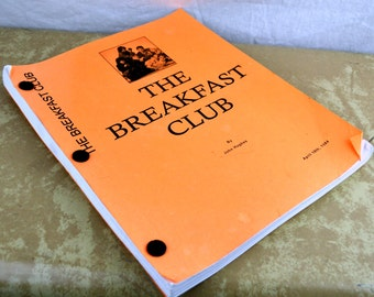 RARE Original Vintage The Breakfast Club 1984 Original Movie Script John Hughes Classic Film Screenplay