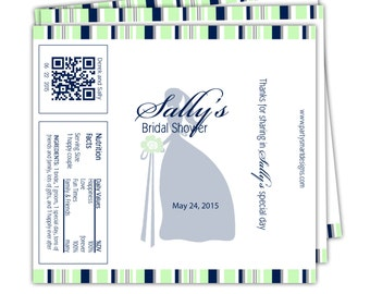 10 Bridal Shower candy wrappers/Candy Wrappers/Hershey Candy Bar Wrappers/Shower Wrappers/Chocolate Bar Wrappers
