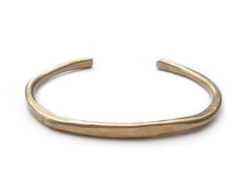 Men's Cuff Bracelet - Abundance Cuff - Hammered Bracelet - Bronze Cuff