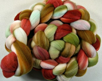 Bronzed Terracotta Light merino wool top for spinning and felting (4 ounces)