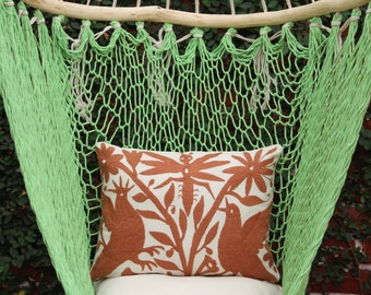 Brown Pillow Sham-Otomi Embroidery Ready to ship.