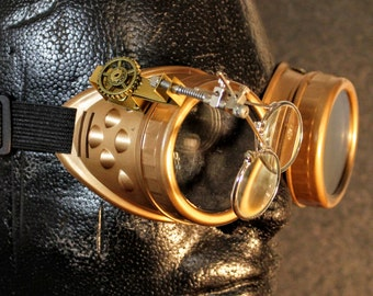 Steampunk Brass Goggles brass with gears
