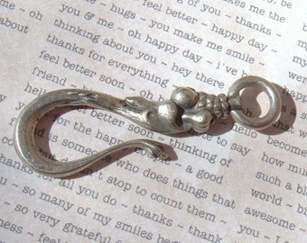 Victorian Shepard's Hook Clasp White Bronze Reproduction