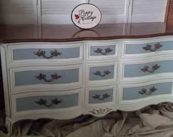 Dresser Bow Front FRENCH Provincial Dresser Poppy Cottage PAINT to ORDER Vintage Painted Furniture