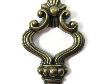 Antiqued Brass Drawer Pull Vintage Cabinet Hardware ...  Set of 8 with LOTS more available