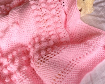 CHERRY BLOSSOM baby blanket knitting pattern