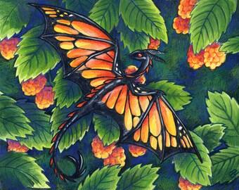 Art Print - Monarch Dragon