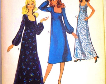 style pattern 3368 ~ misses dress in two lengths ~ (1971) ~ UNCUT