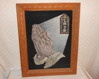 Paint by Number Praying hands on Velvet