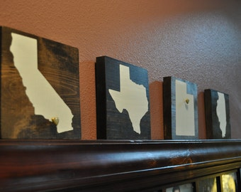 Customizable State Wood Signs