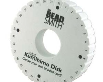 20mm Thick Kumihimo Disk and 4.25 inches Round, This disk will be featured in two of my upcoming beaded kumihimo designs.