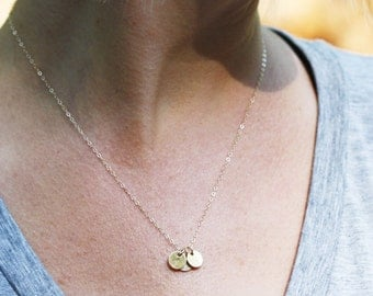 Family Necklace, Initial Necklace, Gold Necklace, Delicate Necklace, Mommy Necklace, Personalized Necklace, Grandmother Necklace