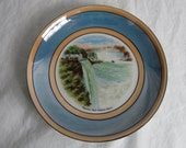 Vintage Souvenir Plate - Wall Decor - Niagara Falls Prospect Point - Lustreware - Germany