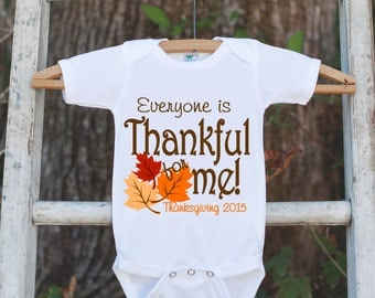 Thankful For Me Thanksgiving Shirt - 2016 Thanksgiving Onepiece - 1st Thanksgiving Outfit for Baby Boy or Baby Girl - First Thanksgiving