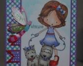 Hand Colored, Handmade, Handcrafted Birthday Card