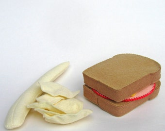 Wool Felt - Bologna and Cheese Sandwich on Wheat or White Bread