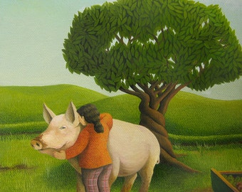 Favourite Pig (Original painting SOLD) - print available
