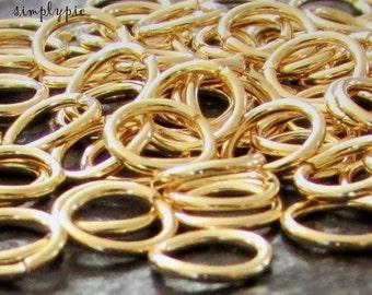 6mm Gold Plated Jump Rings Brass Jumprings 20 Gauge 50 Pcs