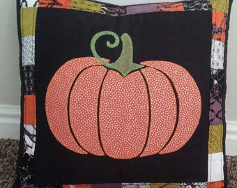 Quilted Halloween Pumpkin 16x16 Pillow Cover and October 31 16x16 Pillow Cover !!