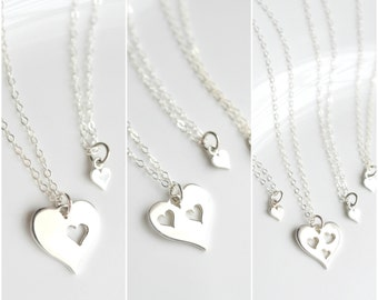 Mothers Day from Daughter - Mother Daughter Necklace Set - Sterling Silver Mothers Necklace - Mother Daughter Jewelry - Mom from Daughter