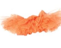 Neon Orange Adult Tutu Skirt-Organza Tutu Skirt Women's Halloween Costume- Running Skirt Tutu