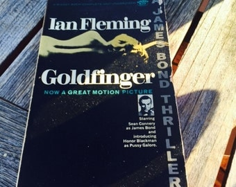 Goldfinger Book, James Bond 007,Bond Film,Ian Fleming, Sean Connery, Movie Book,Goldfinger Film Book,Honor Blackman,Bond Thriller,Bond Book
