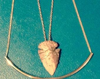 Gold Arrowhead Boho layered necklace