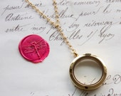 Large Keepsake Y Necklace Glass Floating Memory Shake Locket - Stainless Steel, Yellow Gold, or Rose Gold Plated - Nickel Free