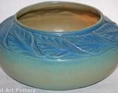 Van Briggle Pottery Late Teens Large Leaves Bowl (Shape 828)