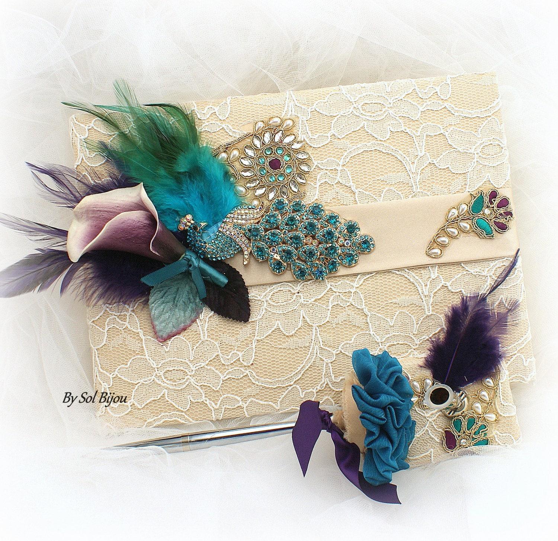 Plum coloured bathroom accessories - Purple Guest Book Etsy Plum Colored Bathroom Accessories