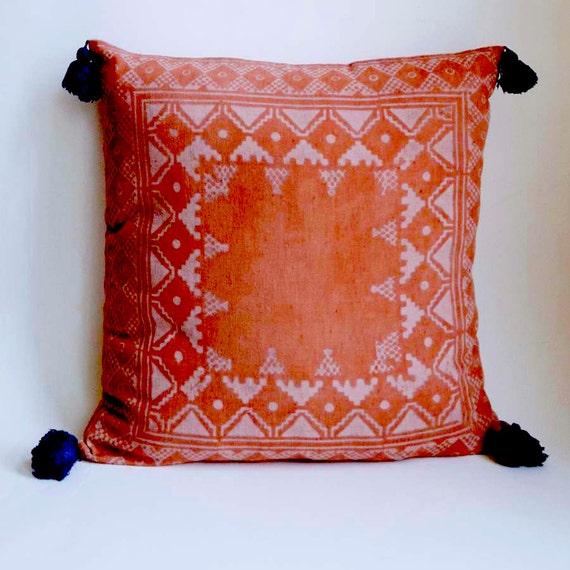 Pillow, throw pillow decorative pillows sofa pillow bohemian pillow covers home decor bed tassel toss gift housewares - KUTCH PILLOW COVER