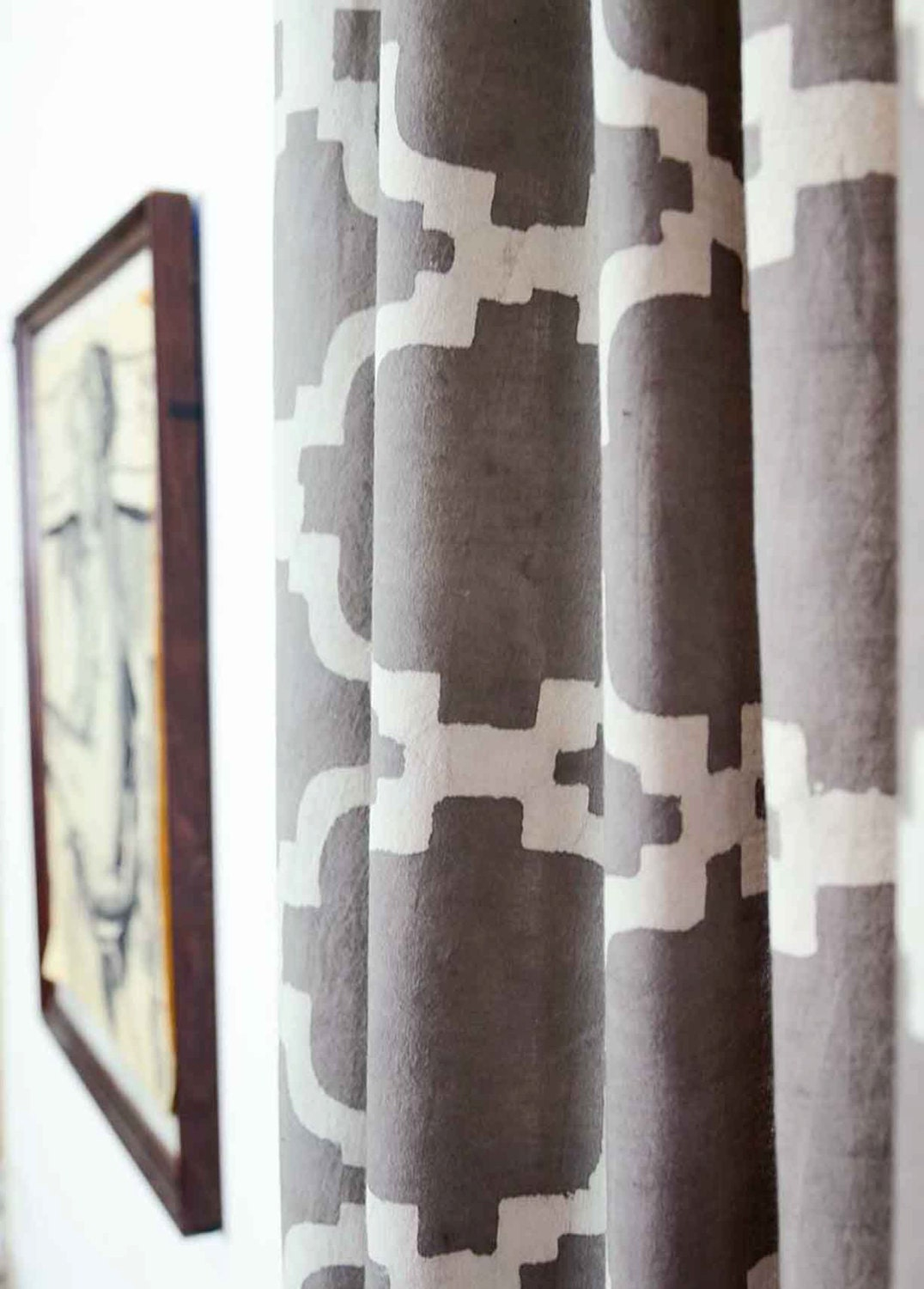 Boho window curtains -  Zoom